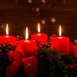 fourth candle of the advent wreath for christmas